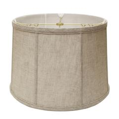 Slant Retro Drum Softback Lampshade with Washer Fitter, Oatmeal
