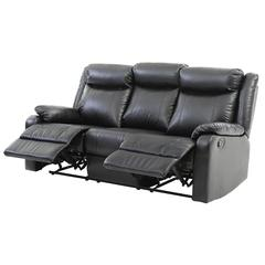 Glory Furniture Ward G761A-RS Double Reclining Sofa, Black