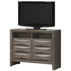 Glory Furniture Marilla G1505-TV2 Media Chest, Gray