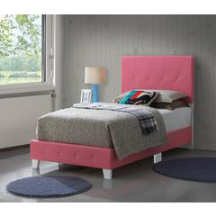 Glory Furniture Rose G2617-TB-UP Twin Bed, Pink