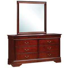 Glory Furniture Louis Phillipe G3100-D Dresser, Cherry