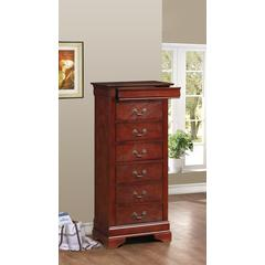 Glory Furniture Louis Phillipe G3100-LC Lingerie Chest, Cherry