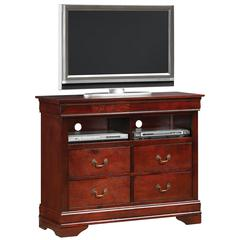 Glory Furniture Louis Phillipe G3100-TV Media Chest, Cherry