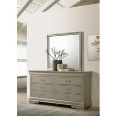 Glory Furniture Louis Phillipe G3103-D Dresser, Silver Champagne