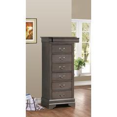 Glory Furniture Louis Phillipe G3105-LC Lingerie Chest, Gray