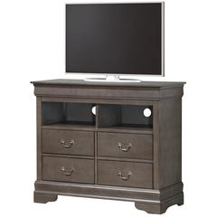 Glory Furniture Louis Phillipe G3105-TV Media Chest, Gray