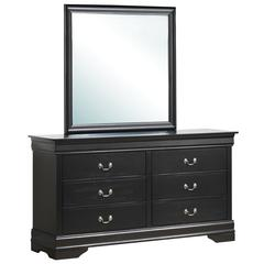 Glory Furniture Louis Phillipe G3150-D Dresser, Black
