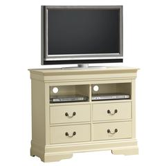 Glory Furniture Louis Phillipe G3175-TV Media Chest, Beige