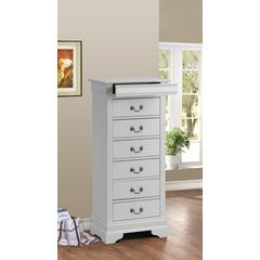 Glory Furniture Louis Phillipe G3190-LC Lingerie Chest, White
