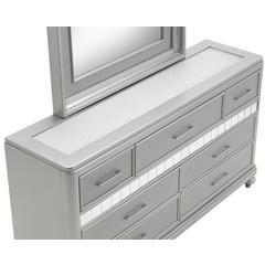 Glory Furniture Paulina G5700-D Dresser, Silver Champagne