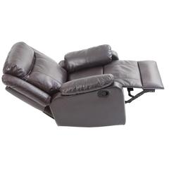 Glory Furniture Ward G760A-RC Rocker Recliner, Dark Brown