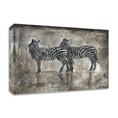 Zebras by Marta Wiley, Print on Canvas, Ready to Hang