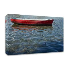 Red Boat by Lynda White, Print on Canvas, Ready to Hang