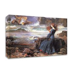 """Miranda the Tempest by John William Waterhouse , Print on Canvas, 24"""" x 18"""", Ready to Hang"""