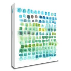 Shades of Parakeet by Kelly Witmer, Print on Canvas, Ready to Hang