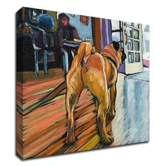 """A Pug's View by Kathryn Wronski , Print on Canvas, 16"""" x 16"""", Ready to Hang"""