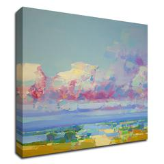 """Purple Clouds by Vahe Yeremyan , Print on Canvas, 15"""" x 18"""", Ready to Hang"""