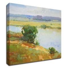 """Riverside by Vahe Yeremyan , Print on Canvas, 24"""" x 26"""", Ready to Hang"""