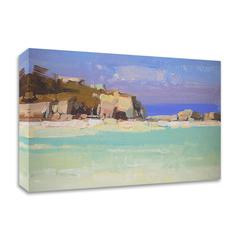 """Southbay Island by Vahe Yeremyan , Print on Canvas, 28"""" x 16"""", Ready to Hang"""