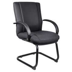 Aaria Collection Elektra Guest Chair/ Black Finish/ Black Upholstery