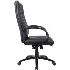Aaria Collection Elektra High Back Executive Chair / Black Finish / Black Upholstery