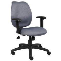 Boss Gray Task Chair W/ Adjustable Arms