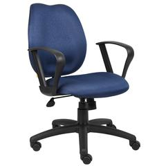 Boss Blue Task Chair W/Loop Arms