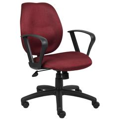 Boss Burgundy Task Chair W/Loop Arms