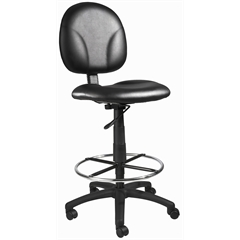 Boss Black Caressoft Drafting Stools W/Footring