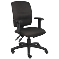 Boss Multi-Function Fabric Task Chair W/ Adjustable Arms