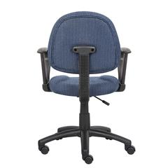 Boss Blue  Deluxe Posture Chair W/ Loop Arms