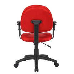Boss Red Microfiber Deluxe Posture Chair W/ Adjustable Arms.