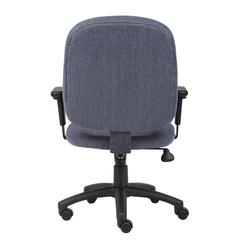 Boss Sky-blue Fabric Task Chair W/ Adjustable Arms