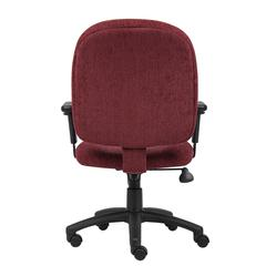 Boss Wine Fabric Task Chair W/ Adjustable Arms