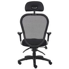 Boss Mesh Chair W/3 Paddle Mech & Headrest