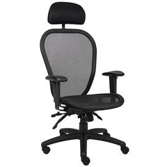 Boss Multi Function Mesh Chair W/ Headrest