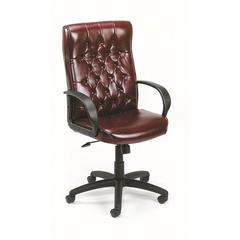 Boss Button Tufted Executive Chair In Burgundy