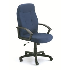 Boss Executive Fabric Chair In Blue