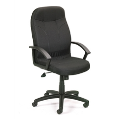 Boss Executive Fabric Chair In Black