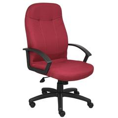 Boss Executive Fabric Chair In Burgundy