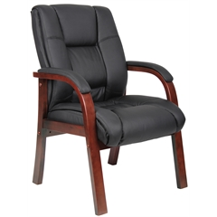 Boss Mid Back Wood Finished Guest Chairs