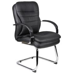 Boss Mid Back CaressoftPlus Guest Chair W/ Chrome Sled Base