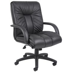 Boss Italian Leather Mid Back Executive Chair