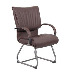 Boss Mid Back Bomber Brown LeatherPlus Guest Chair