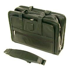 Stebco Executive Leather computer case in Black