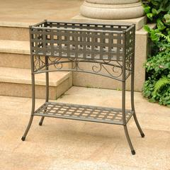 Mandalay Iron Rectangular Plant Stand