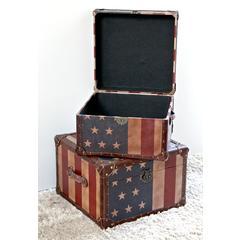 Vintage Set of Two Square Box