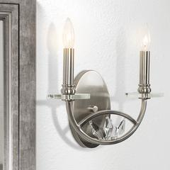 Two Light Wall Sconce No Shade