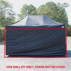 Universal Instant 10x15 - 4 Pack Side Walls Black