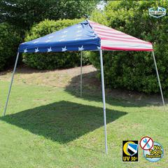 10X10 SLANTLEG Instant Pop Up Tent w/ USA FLG Cover